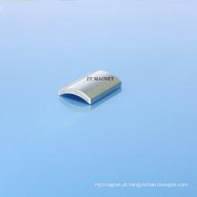 Ímãs do neodímio do segmento do arco da alta qualidade 40sh com revestimento do Zn