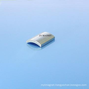 40sh High Quality Arc Segment Neodymium Magnets with Zn Coating
