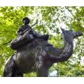 бронзовый араб на верблюде с собаками скульптура