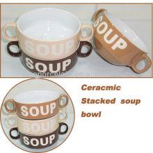 2013 Bacia de sopa empilhada cerâmica nova de 4.29 polegadas para BS130515A