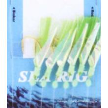 En gros pas cher 6 PCS / sac de pêche en mer Sabiki Rig