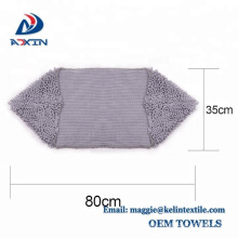 Super absorbent and thick chenille pet microfiber towel with private label Gray