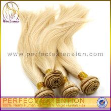 блондинка бразильский уток волос расширение 100 человеческих волос weave волос
