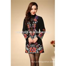 2016 vestuário de vestuário bordado novo das mulheres da forma