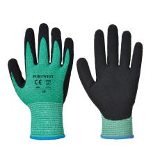 Tough Green HPPE Sandy Nitril Cut 5 Handschuh Cut Resistant Speerfishing Handschuhe