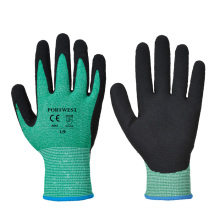 Tough Green HPPE Sandy Nitrile Cut 5 Glove Cut Resistant Spearfishing Gloves