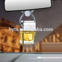 Bouteille de parfum d'ambiance de voiture élégante carrée 5ml