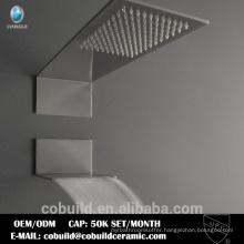 New Arrival Retangular Multi-Functions Waterfall Rainfall Embed Ceiling Bathroom Shower Set