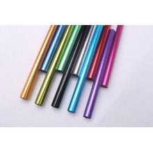 Tube en aluminium anodisé de couleur