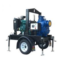 T Serie 6 pulgadas autocebado bomba de aguas residuales sin obstrucción con impulsor abierto bomba de agua diesel con tractor