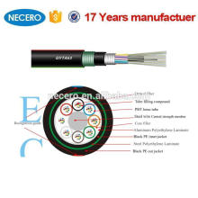 double armoed double jacket 96 Core single mode direct buried fiber optic cable