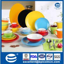 Различный фарфор фарфора застекленная плита обеда, различный набор чая цвета, котор нужно выбрать