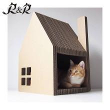 Lieferungs-Qualitätsgroßhandels-Pappe formte Erfahrung Hochgrad-Katzenhaus mit Kratzer CT-4020