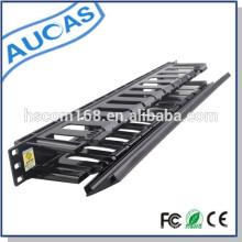 Plastik 1U 12 Häfen 19-Zoll-Netzwerk-Rack cabionet Kabel-Management-System für die Sortierung Patchkabel