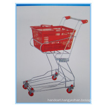 Zinc Plated Basket Trolley with Double Baskets