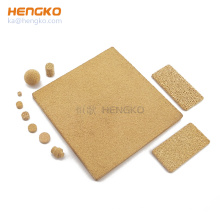 HENGKO custom 0.2 0.5 to 100 micron inconel bronze 316L stainless steel metal microporous sintered filters sheet