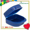 Caixa para dentes falsos de plástico portátil
