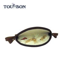 Tourbon большой размер холста и натуральной кожи кошельки Делюкс летать летать рыболовные снасти