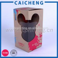 Boîte faite sur commande d'emballage de cadeau de poupées de papier