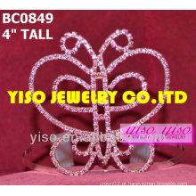 Coroa de representação de beleza de borboletas