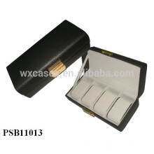 caixa de relógio de couro de alta qualidade para 4 relógios atacado fabricante