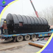 400 metros cuadrados cubren la planta de reciclaje plástica de la pirólisis del neumático
