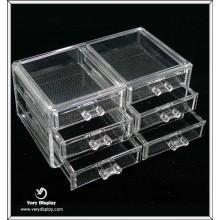 Caja de acrílico transparente cuadrada al por mayor con cajón