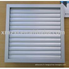 Backdraft Air Register (registre de ventilateur, registre d'air en aluminium)