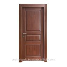 Madeira moldada design porta interior de luxo para moradias