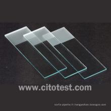 Diapositives de microscope givrées simples (0307-2103)