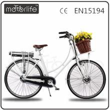 MOTORLIFE / OEM EN15194 2017 konkurrenzfähiger preis city e bike, damen ebike.
