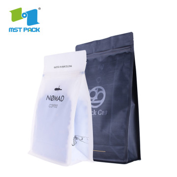 Aluminium Foil Side Gusset Quad Seal Coffee packaging