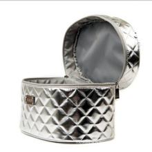 Le sac à main cosmétique argenté de mode de femmes (hx-q074)