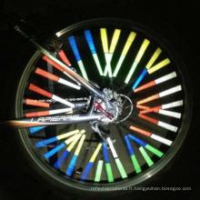 Réflecteur de rayon de roue de bicyclette / bâti réfléchissant d'OEM de bande d'avertissement de tube de bâti EMBALLAGE !!!