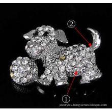 Gets.com zinc alloy rhinestone dragonfly brooch