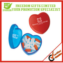 Promotional Printed Logo Heart Shaped Pill Box