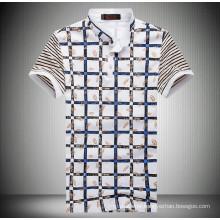 15PKPT16 2015 casual holiday printed check polo t shirt