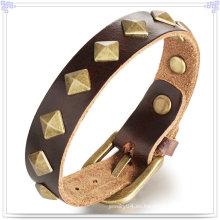 Joyería de moda cuero joyas pulsera de cuero (lb169)
