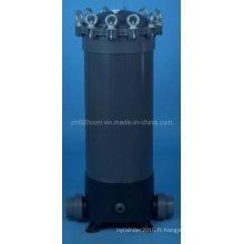 Boîtier de filtre à cartouche en PVC pour traitement de l'eau
