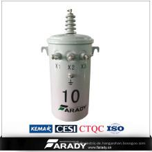 Einphasen-Transformator Öl immenered Overhead Power Transformator Preis csp Typ 75kva