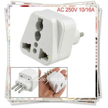 Italy to Universal Travel Plug Power Adapter AC 250V(italy plug adapter)