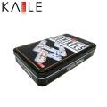 Domino de color marfil de Kaile Factory con caja de estaño
