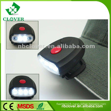 ABS material powerful 4 led miners cap lamp