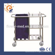 CE ISO certificación de acero inoxidable hospital de enfermería carrito distribuidor