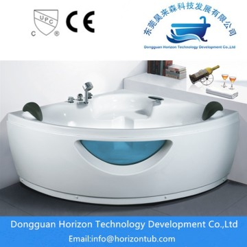 Corner spa jet bathtubs