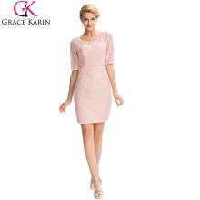 Grace Karin 2016 Formal Occasion élégante à manches longues en dentelle Mère de la robe de mariée + Veste gratuite GK000055-1