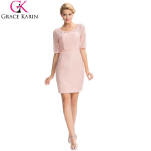 Grace Karin 2016 Formal Occasion Elegant Half Sleeve Lace Mother Of The Bride Dress +Free Jacket GK000055-1