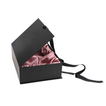 Custom Black Book Shape Hair Extension Paper Box