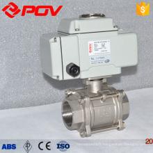 gaz 1000wog 3pc pince électrique motorisé à bille vanne ac110v