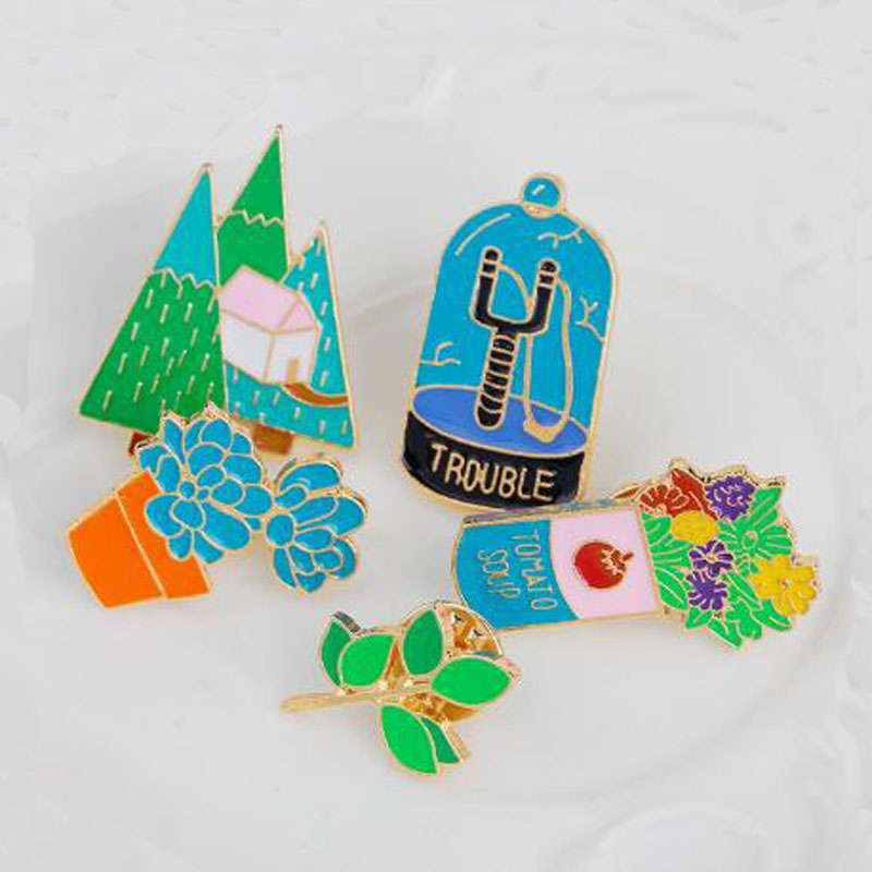 Flowers Metal Soft Enamel Lapel Pin